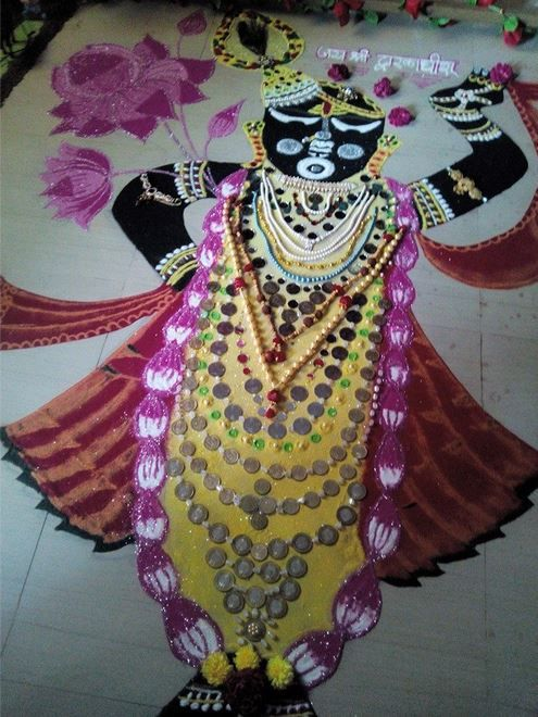 Creative Rangoli Designs for Janmashtami