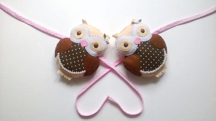Sówki na zasłony – dekoracja do pokoju dziecięcego w Yayo-handmade na DaWanda.com