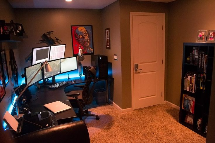 Man cave home office #homeoffice #mancave