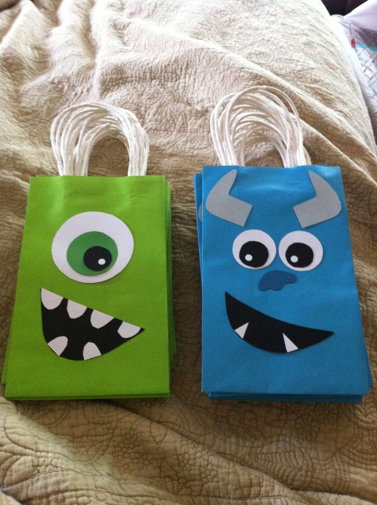 Monsters, Inc. Treat Bags for kids party.