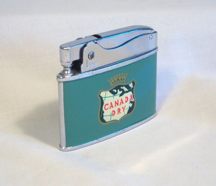 Canada Dry Japanese Flat Advertiser Cigarette Lighter 1950's