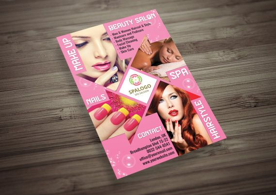 Hair and Beauty Salon Flyer PSD + Instagram Ads Template, MakeUp, Spa, Nail Salon, Therapy Flyer, Massage Studio
