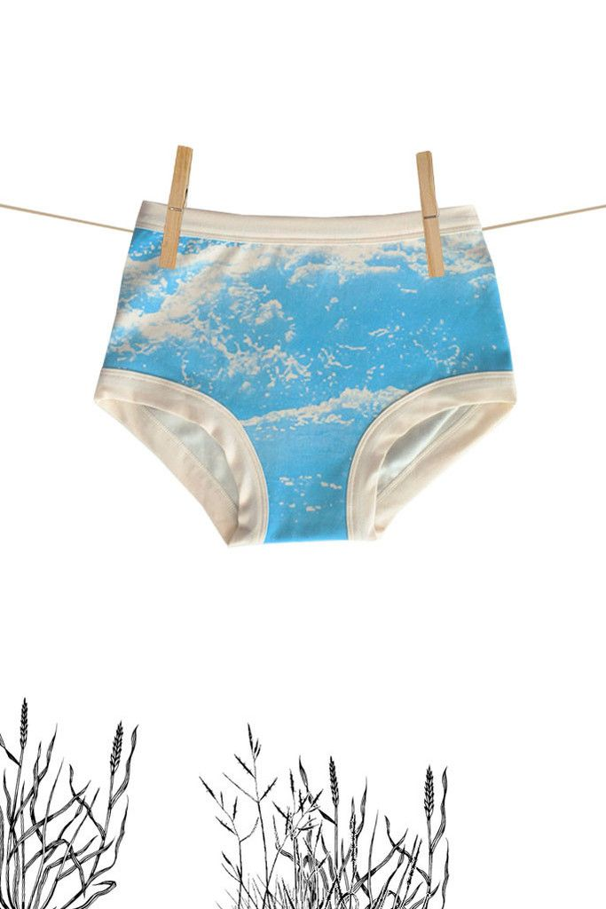 Womens Original Handprint Ocean | Thunderpants NZ