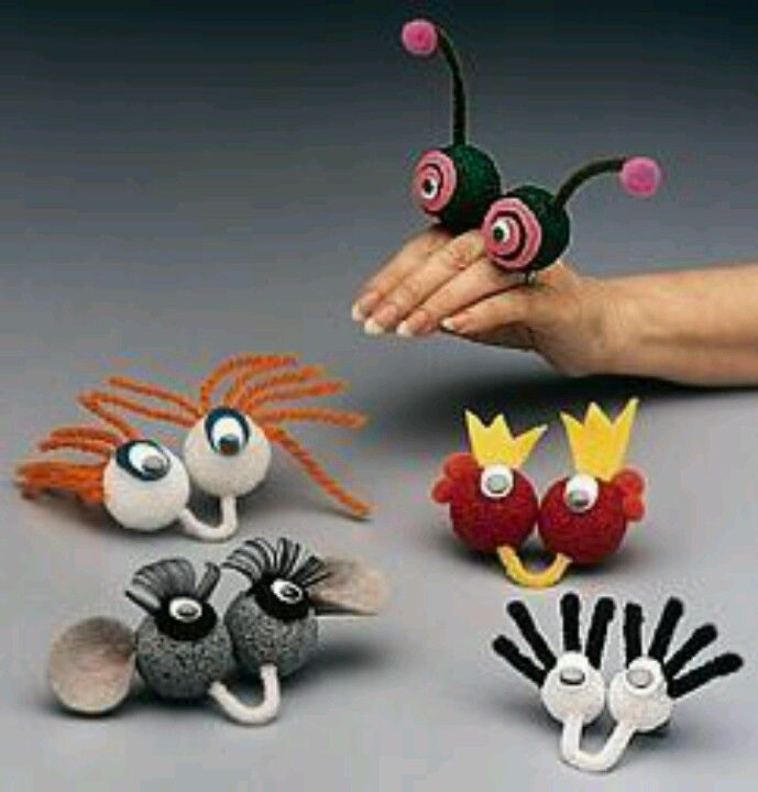 Puppets - eyes on hand --->easy for building in the monster lab!