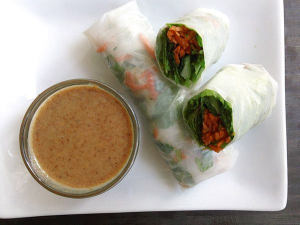 Cooking for Two: 20 Healthy Recipes for Two People: Summer Rolls w/Almond Sauce