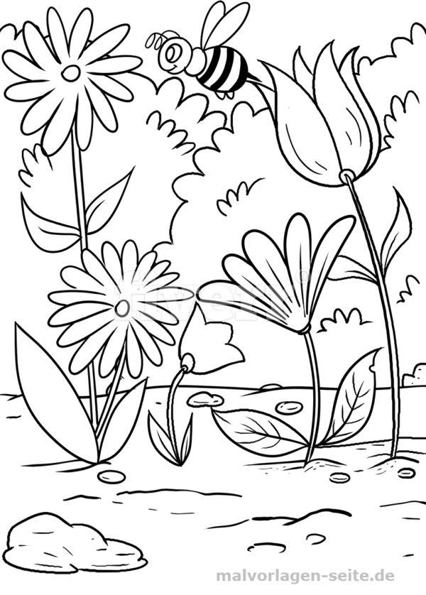 Blumenwiese malvorlage - Google-Suche Blumen