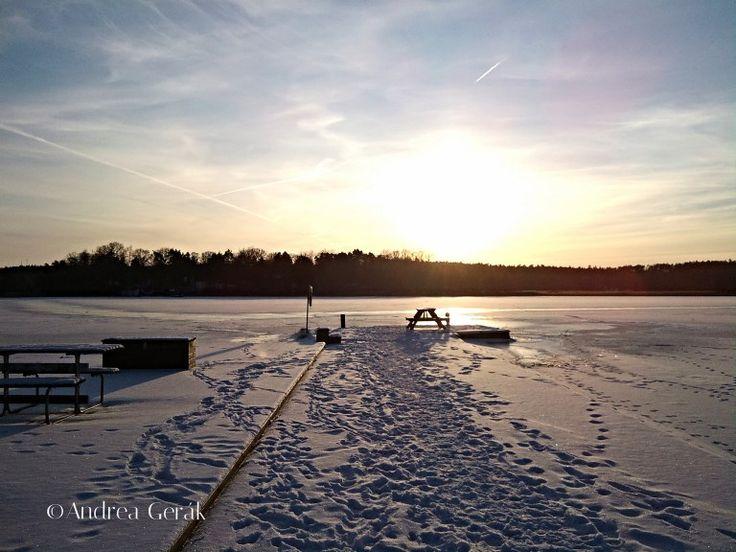 Winter at Säby Brygga, Färingsö Island, Sweden. 2012 January