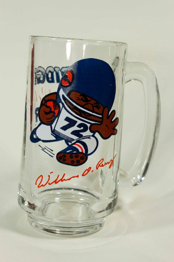 1985 Chicago Bears The Fridge Perry Glass Mug by ThisAndThatAndEtc