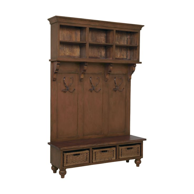 Guildmaster GUI-602509RS Legacy Collection Brown Stain Finish Cabinet