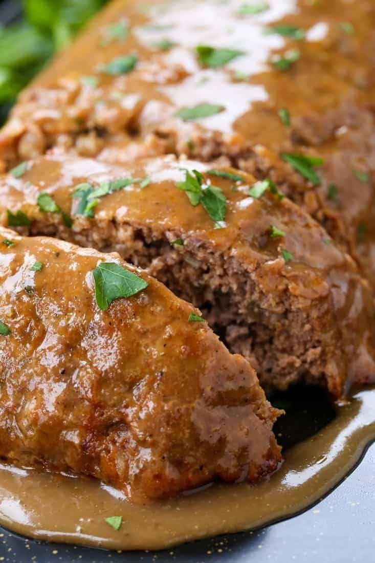 Brown Gravy Meatloaf The Best Meatloaf Recipe Ever Good Meatloaf Recipe Brown Gravy Meatloaf Best Meatloaf