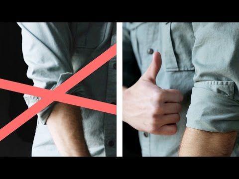 Anche compiere le semplici azioni quotidiane, tipo quelle di arrotolare le maniche di una camicia possono richiedere un'accorgimento impeccabile. Ecco un semplice