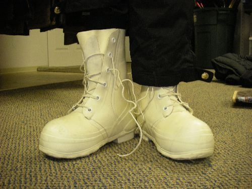 Bunny boots. How do you keep your feet warm at 40 below? Bunny boots. these are worn in Alaska