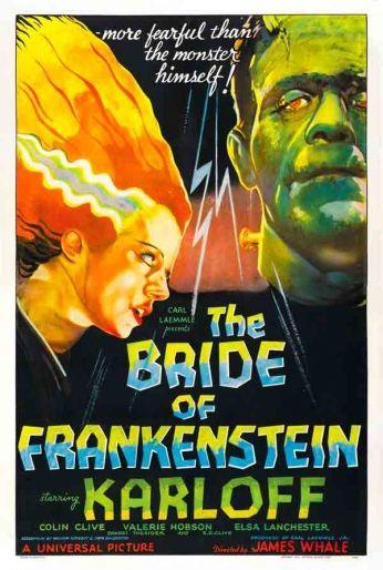 Filme: The Bride of Frankenstein (A Noiva de Frankenstein, 1935). Direção: James Whale. Elenco: Boris Karloff, Colin Clive e Valerie Hobson.