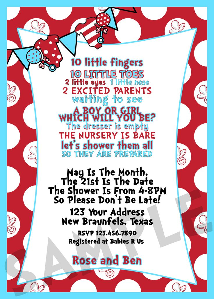 dr seuss baby shower invitation oh