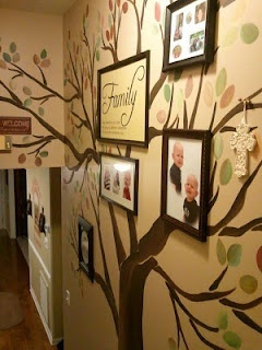 family tree painted on wall. Love this so much! I wish I could paint!!