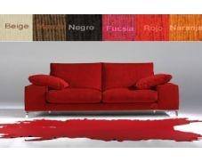 Sofá dos plazas tapizado en tela que le proporcionará toda la comodidad que usted necesita. El diseño de este sofá es sencillo a la par que elegante, lo que permite una gran adpatación en cualquier tipo de estancia y de estilo.