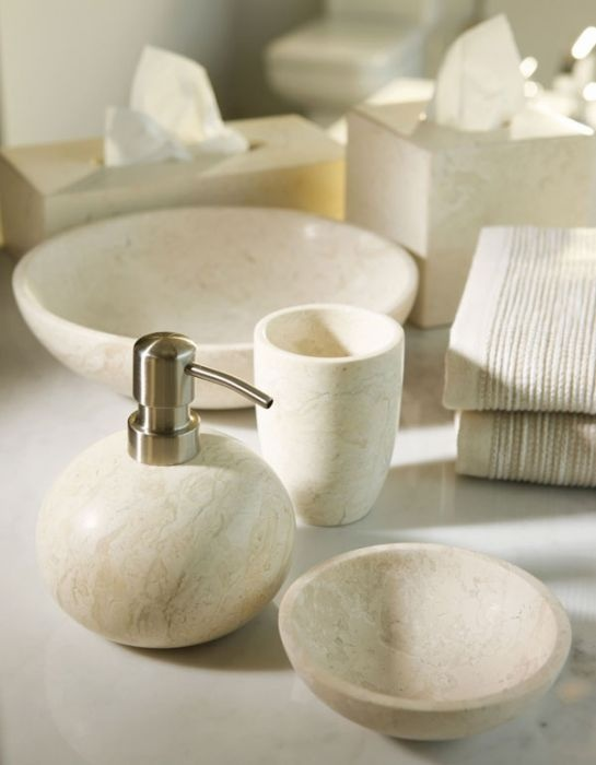stone coloured bathroom accessories. Luxurious accessories for the bathroom  travertine looking soap dispenser and dishes 29 best Fun Bathroom Accessories images on Pinterest