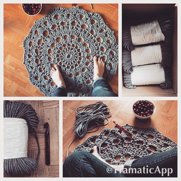 #handmade #rug #crochet #design #tappeto #uncinetto #rękodzieło