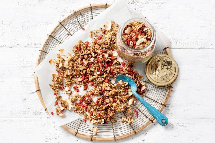 Begin je dag supergoed met deze granola van superfood - Recept - Glutenvrije granola - Allerhande