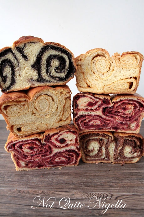 Povitica sweet bread - an Eastern European dessert bread with nut or fruit filling - known by many other names such as: Potica, Strudel, Kalachi, Nutroll, and/or Poppyroll, popular around holidays.