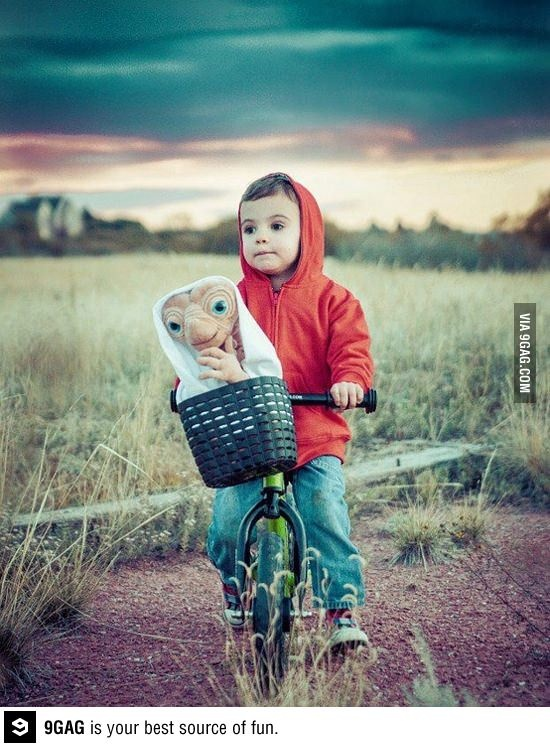 ET and Elliot costume for kids #Halloween