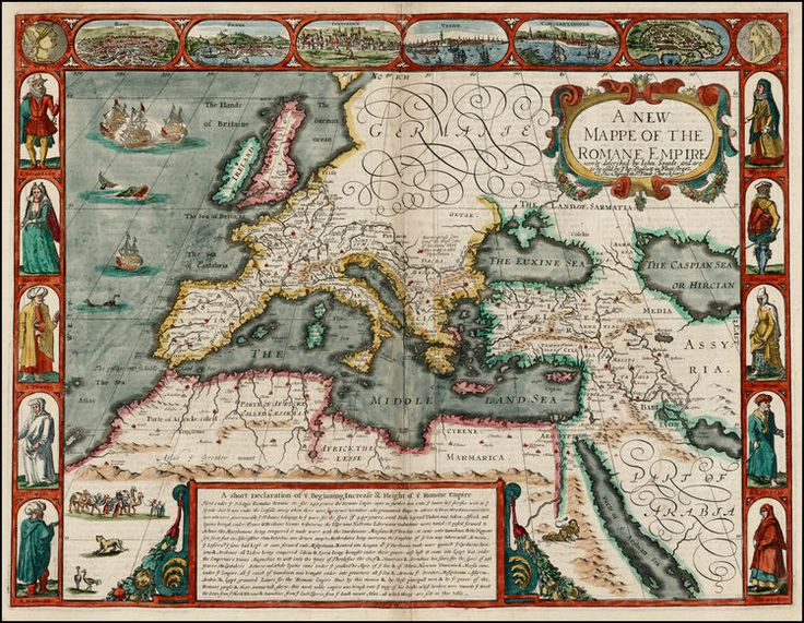A New Mappe Of The Romane Empire . . . 1626 - Barry Lawrence Ruderman Antique Maps Inc.