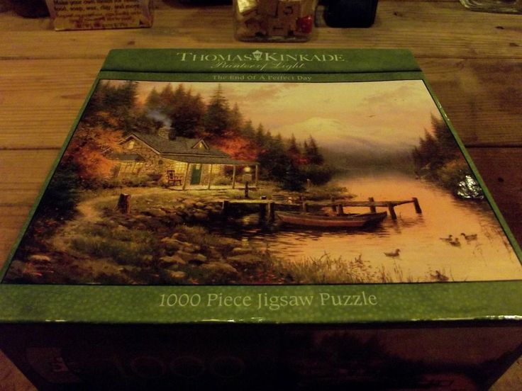 New Thomas Kinkade Puzzles 1000 The end of a perfect day Puzzle Fall Colors $9.99
