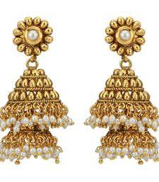 Buy Double decker South Indian Pearl Big Jhumka Jhumki Earring jhumka online