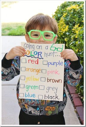 Goin' on a Color Hunt!!! Turn a walk around the neighborhood into a Color Hunting Adventure!!!!