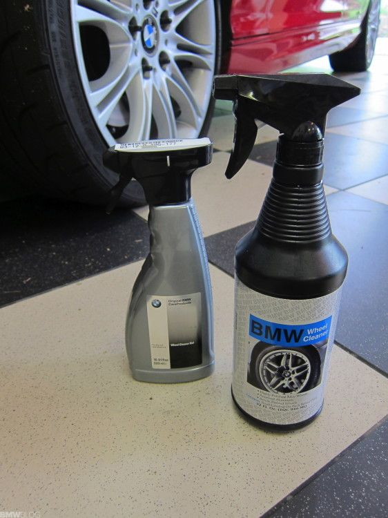 Keeping your BMW wheels clean with BMW Wheel Cleaner Gel and Wheel Wax