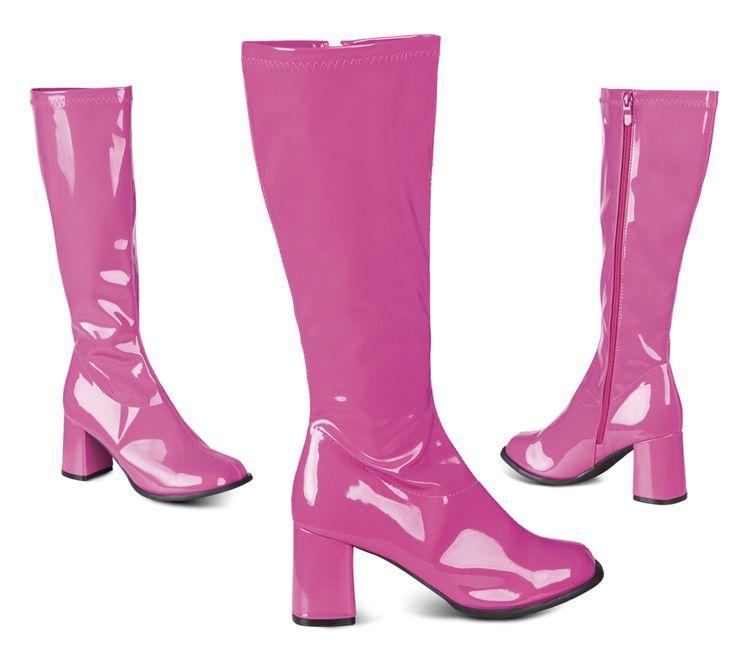 Pinkit bilesaappaat. Saappaiden sisäsivulla oleva vetoketju helpottaa kenkien pukemista ja riisumista.