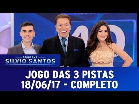Jogo das 3 Pistas   Programa Silvio Santos (20/08/17) - YouTube