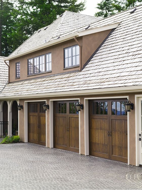 awesome 14 wide garage door #3: Reserve Collection Limited Edition Series Wood Carriage House Garage Doors  Design 1 with Rec 14 Glass
