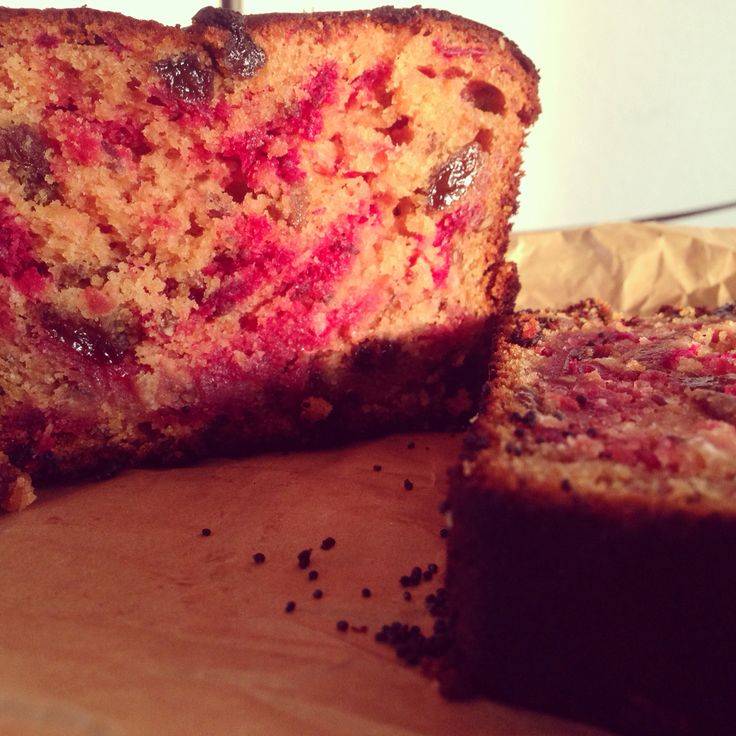 Healthy Bake Delicious Beetroot Sultana And Linseed Loaf Cake Free From Refined Sugars