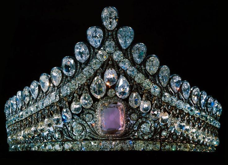 Circa 1770 tiara made by Louis-David Duval, possibly for Empress Elizabeth, via Ageless Heirlooms' Antique Jewelry Blog.