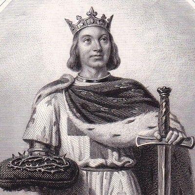 Portrait-XIXe-Louis-IX-Saint-Louis-Roi-de-France-Capetiens-Croisades-Poissy