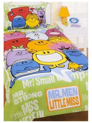 Children Love Mr Men And Little Miss If Your One Is A Fan Of Then Why Not Check Out For Some Great Bedding