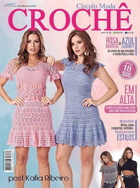 Revista Moda Crochê da Círculo Lançamento - Katia Ribeiro Moda e Decoração Handmade