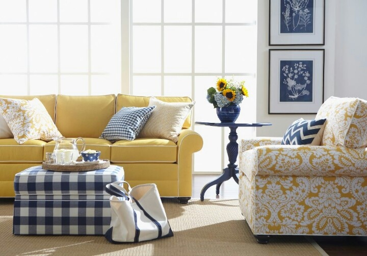 Yellow And Blue Living Rooms Pinterest