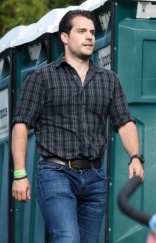 I don't think its fair that he looks so hot while standing next to porta potties... Jus' sayin'