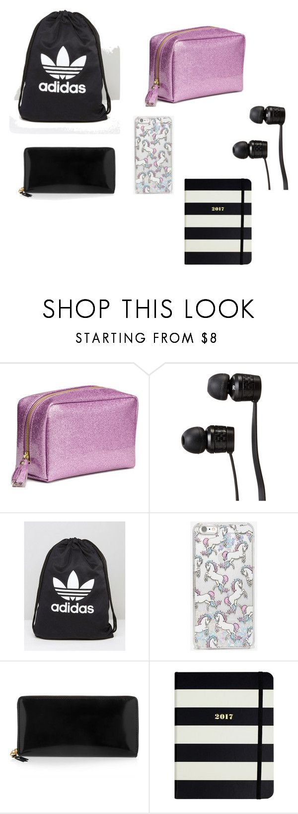 """""""zaino per centro commerciale"""" by chiara-vitolo ❤ liked on Polyvore featuring Vans, adidas, Skinnydip, Comme des Garçons and Kate Spade"""