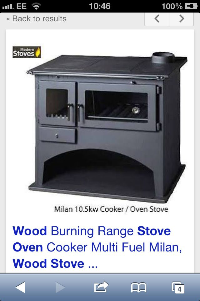 Woodburner with oven