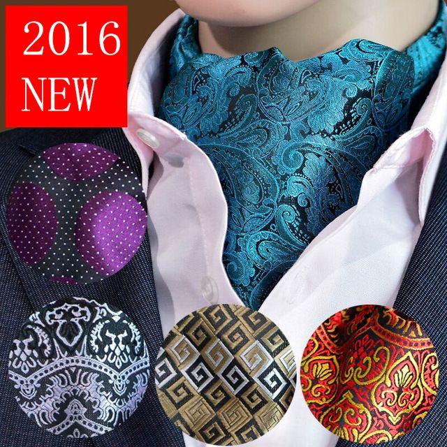 2016 nuovi uomini di modo sciarpa cravatta ascot foulard cravatte polka dot…