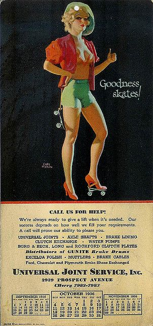 1936 Earl Moran pinup by Vintage Roadside, via Flickr
