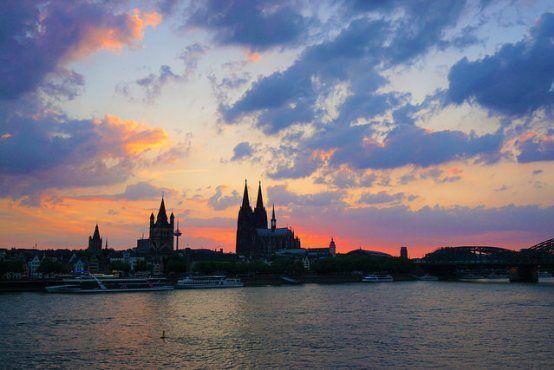 Köln at dusk