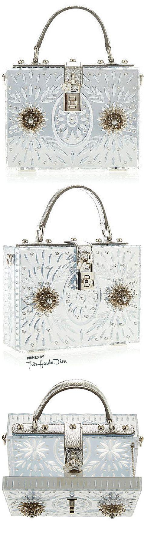 Dolce & Gabbana Fall 2015 Embellished Plexi Mirror Dolce Bag ♔THD♔