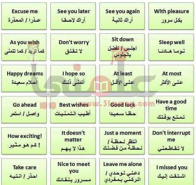 كلمات انجليزية نستخدمها فى حياتنا اليومية تعلم الانجليزية Learn English English Language Learning Grammar English Language Learning