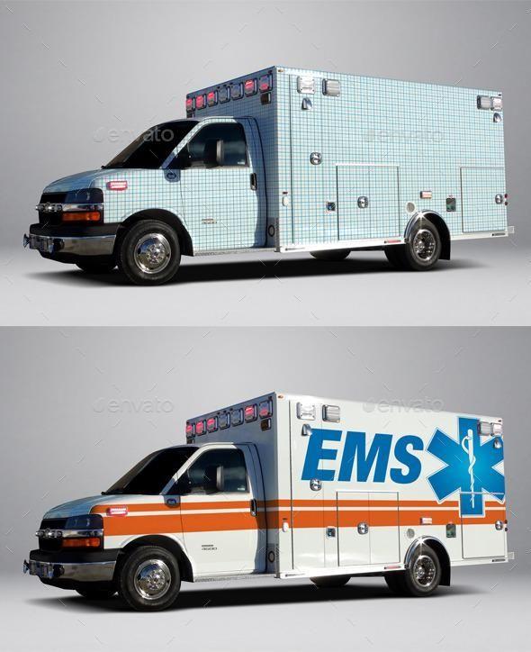 Type III Chevrolet 4500 Ambulance Wrap MockUp For 7