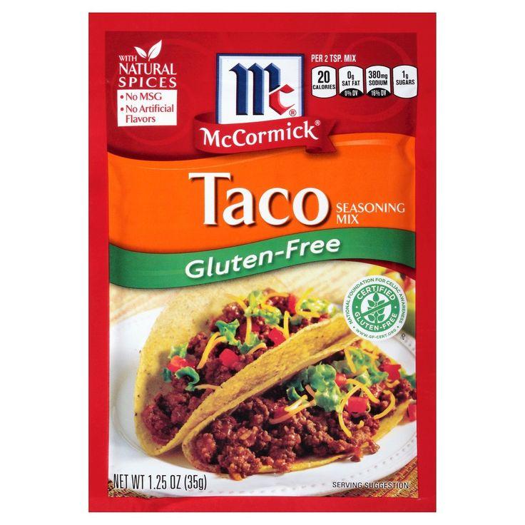 McCormick Gluten Free Taco Seasoning Mix 1.25 oz