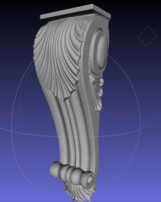 3d model of a furniture and door corbel.
